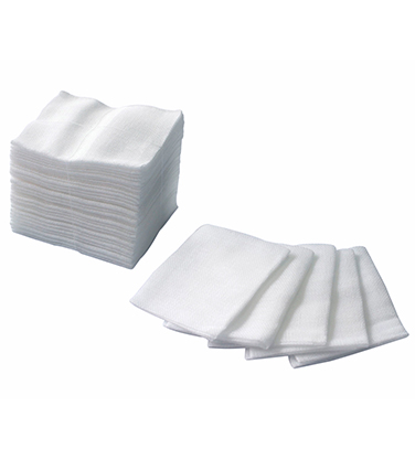 Medical absorbent gauze swab
